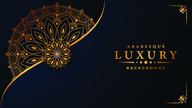 Luxury mandala background with arabesque pattern arabic islamic east style for Wedding card, book cover.