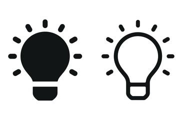 Light bulbs. Bulb icon set Wall mural