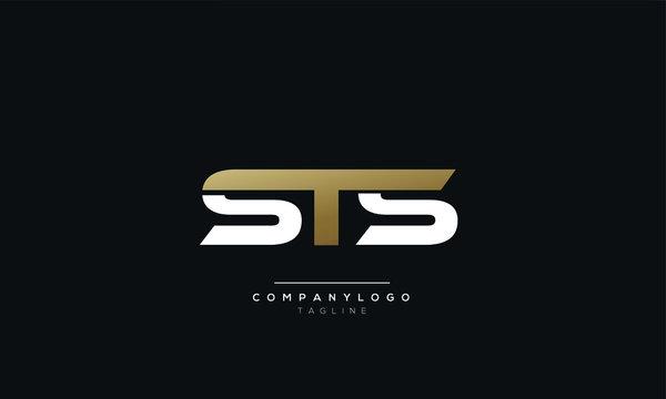 STS Letter logo alphabet monogram initial based icon design
