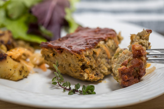 Lentil Loaf rustic veggie meal made of staple pantry items