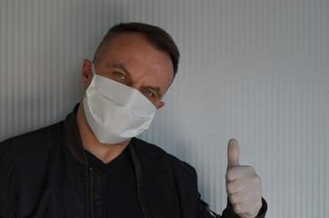 Obraz maseczka , koronawirus , izolacja maską , biznesmen w masce , fotograf w masce , portret w masce , rozmowa w masce , maseczka  wirusowa , maseczka, doktor, lek, medyczne, izolowany, zdrowie, bezpiecze - fototapety do salonu