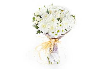 Poster de jardin Muguet de mai Pastel colors wedding bouquet isolated on white