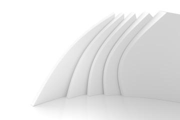 Fotobehang - Modern Geometric Wallpaper. White Indoor Texture