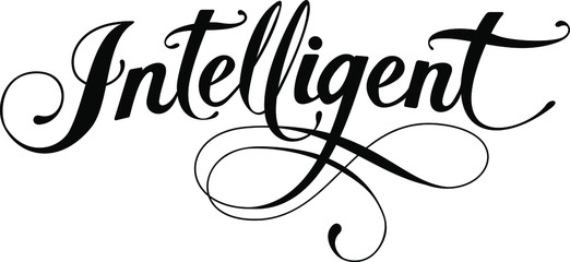 Intelligent - custom calligraphy text Wall mural