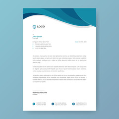 Creative Modern Letterhead Design Template. Abstract letterhead templates for your Business project, Vector illustration, and modern style letterhead template design