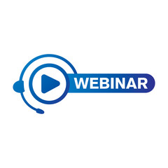vector logo for online webinar, web conference