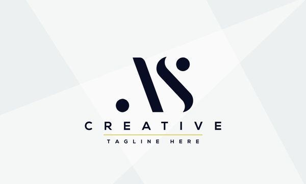 AS Letter Logo Design. Creative Modern A S Letters icon vector Illustration.