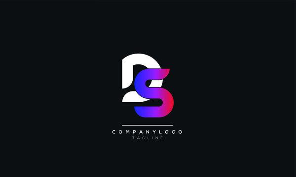 DS SD D S Letter logo alphabet monogram initial based icon design