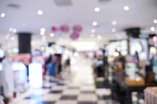Defocused Image Of Mall Interior