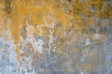 Obraz Background of old yellow painted wall texture - fototapety do salonu