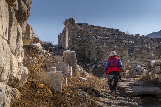 At Delos Island in Greece