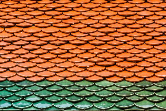 Full Frame Shot Of Wood Shingle On Roof