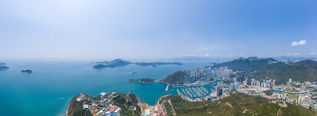 Fotomurales - Aerial view of Ocean Park and  Aberdeen, the theme park in Hong Kong