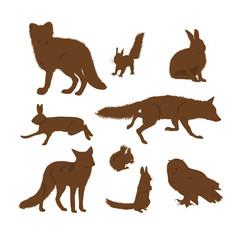 Papiers peints Squirrel 動物のシルエット