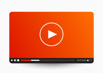 Flat video player template for web and mobile apps.