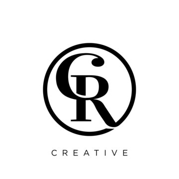 cr luxury logo design vector