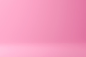 Abstract pink and gradient light background with studio backdrops. Blank display or clean room for showing product. Realistic 3D render.