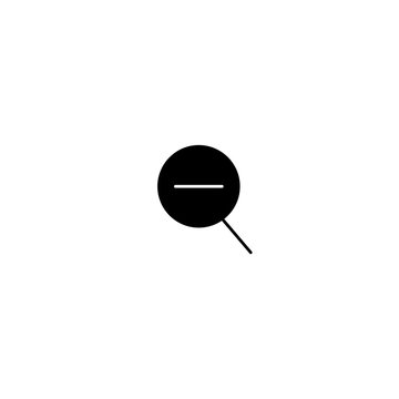 magnifier reduction icon