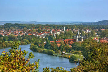 Fototapete - View of Bad Wimpfen, Germany