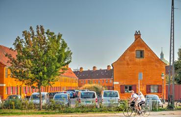 Wall Mural - Nyboder District, Copenhagen, HDR Image