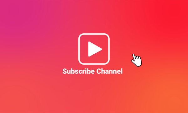 Subscribe Logo Animate Video Social Media Channel Content