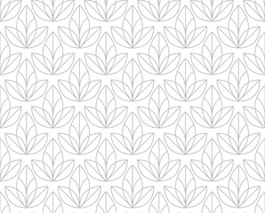 Wall Murals Pattern Flower geometric pattern. Seamless vector background. White and grey ornament.