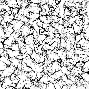 Craquelure pattern. Grunge cracks, cracked painted wall and ground crack texture seamless vector illustration. Broken ground textured, grunge surface pattern