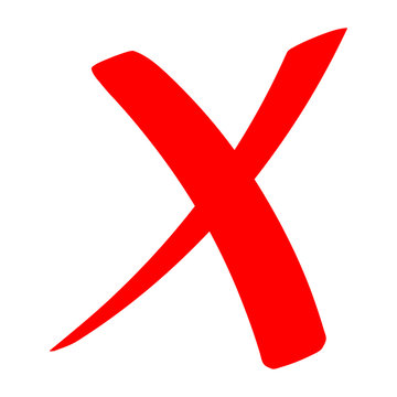 Check mark icon . red cross flat simbol x. delete icon vector illustration. eps 10