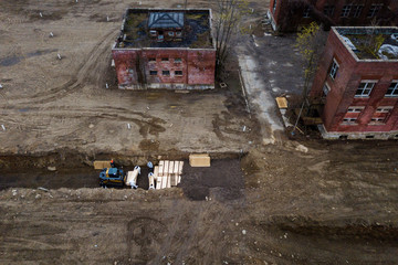 Drone pictures show bodies being buried on New York's Hart Island amid the coronavirus disease (COVID-19) outbreak in New York City