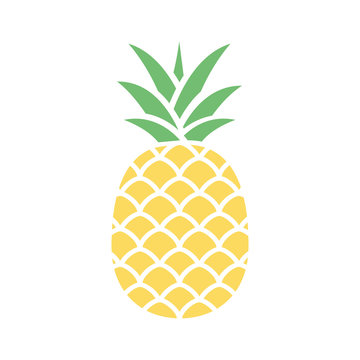 Pineapple colorful icon isolated on white