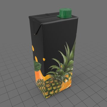 Cardboard pineapple juice box 1