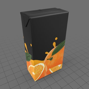 Cardboard orange juice box