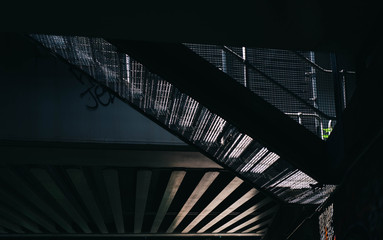 Abstract stairway and bridge