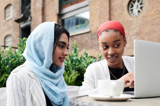 Muslim friends study.