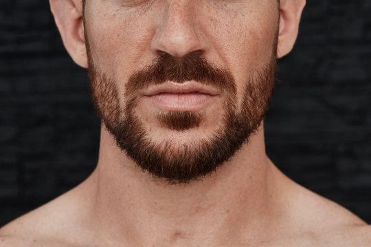 Manly face closeup