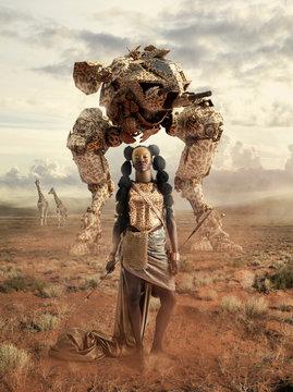 Mech warrior - Afrofuturism