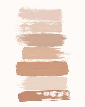 makeup swash art skin tones color palette