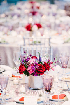 Line of Formal Tables At Reception