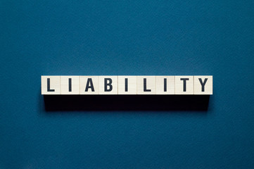 Liability word concept on cubes