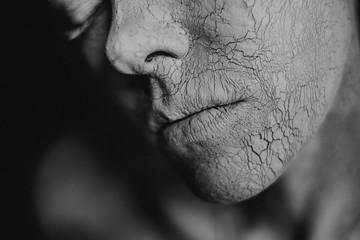 Cracked portrait.