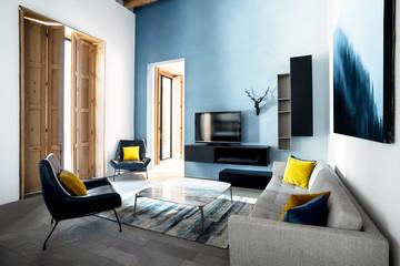 Luxury Contemporary Living Room Fotobehang