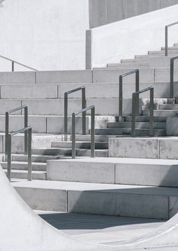 Empty stairs in a public space