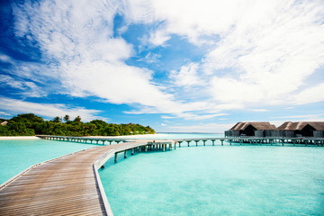 Wall Mural - Overwater bungalows