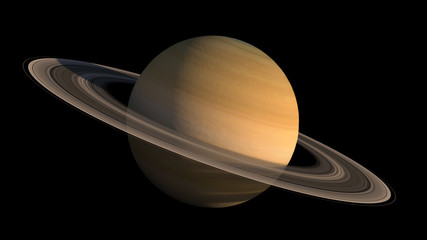 Detailed close-up of the planet Saturn