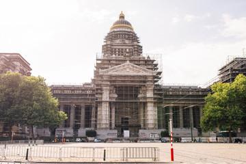 The Court of Laws Justitiepaleis van Brussel, Palais de Justice de Bruxelles located in Brussels.