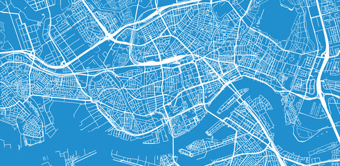 Wall Murals Rotterdam Urban vector city map of Rotterdam, The Netherlands