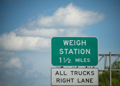 Interstate Truck Weigh Station
