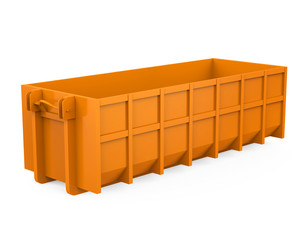 Construction Dumpster Isolated