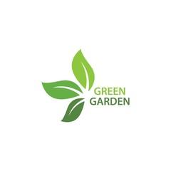 Green garden green leaf ecology logo