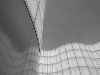 Keuken foto achterwand Texturen Abstract light pattern on interior wall in black and white.